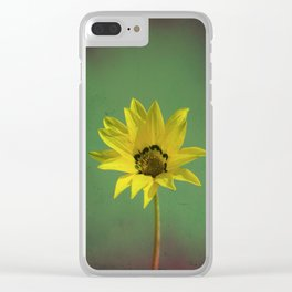 The yellow flower of my old friend Clear iPhone Case
