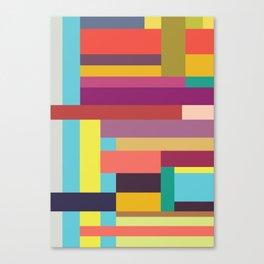 Color Rods 5 Canvas Print