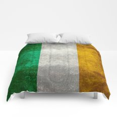 Flag of the Republic of Ireland, Vintage style Comforters