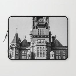 Cardiff Bay Pierhead Black and White Laptop Sleeve