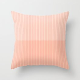 Color Block Lines X Neutral Pink Throw Pillow