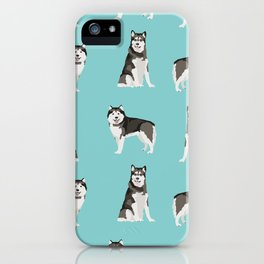 Alaskan malamute  dog breed pet lover malamute gifts iPhone Case