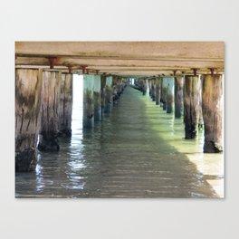 Under the Pier. Canvas Print