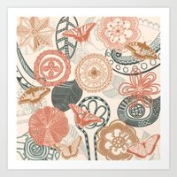 doodle Art Prints featuring doodle  by Ancello
