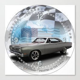 "1969 Plymouth Road Runner Decorative 10"" Wall Clock (029ac) Canvas Print"