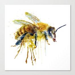 Watercolor Bee Canvas Print