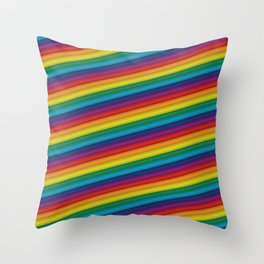 HD Rainbow Throw Pillow