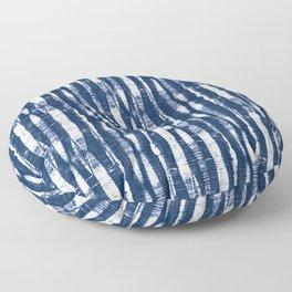 Shibori Stripes Indigo Blue Floor Pillow