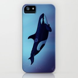 """""""Lost in Fantasy"""" by Amber Marine ~ Orca / Killer Whale Art, (Copyright 2015) iPhone Case"""