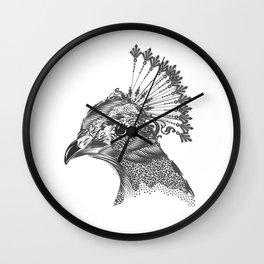 A peacock head Wall Clock