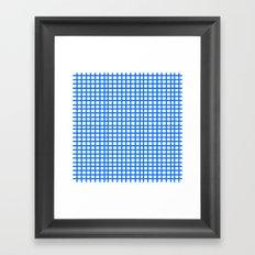 LINES in BLUE Framed Art Print