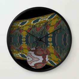 Ball on Pipe 1 Wall Clock