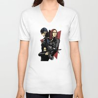 movie poster V-neck T-shirts featuring Movie Poster by Shop 5