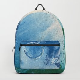 Environmental Blue and Green Painting # 7 Backpack