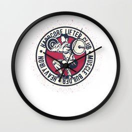 Hardcore Lifter Club Wall Clock