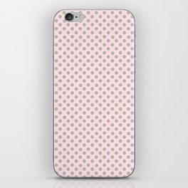 Taupe Polka Dots on Pink iPhone Skin