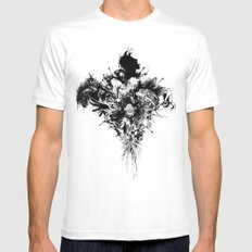 Devil May Care Mens Fitted Tee White MEDIUM