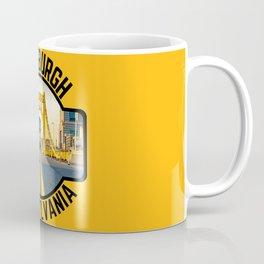 Pittsburgh Pennsylvania Steel City Skyline Bridge 412 Pride Coffee Mug
