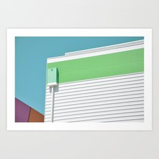 Colorful modern architecture Art Print