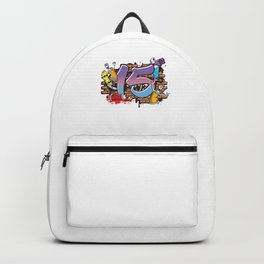 Hiphop Dancer Graffiti Artist Typography 15th Birthday Hip Hop Urban Wall Mural Street Art Backpack
