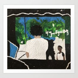 4 Your Eyez Only - J. Cole - Melted Crayon Wax Art Print