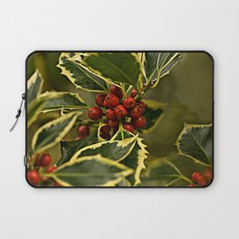 Christmas Holly with Red Berries Laptop Sleeve