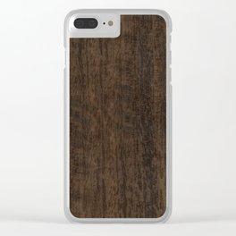 Smoked Etimoe Wood Clear iPhone Case