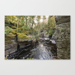 Sturgeon River Canyon in Michigan's Upper Peninsula Canvas Print