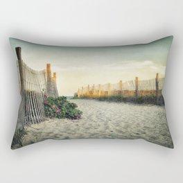 Beach Roses Rectangular Pillow