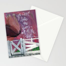 Farm Girl by Seattle Artist Mary Klump Stationery Cards