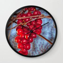 Grapes Schisandra autumn Wall Clock