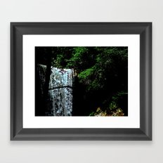 Cucumber Falls Framed Art Print