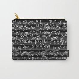 Hand Written Sheet Music // Black Carry-All Pouch