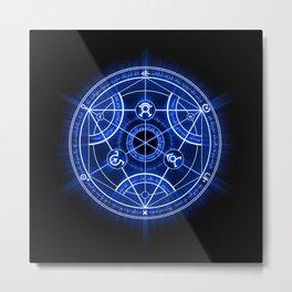 Human Transmutation Circle Metal Print