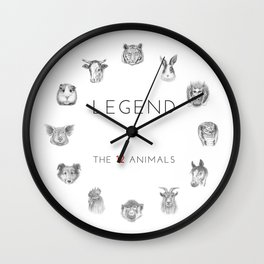 Legend of The 12 Animals Wall Clock