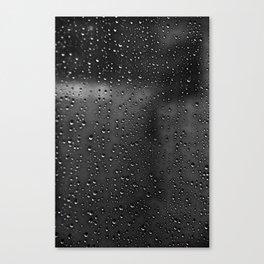 Black and White Rain Drops; Abstract Canvas Print