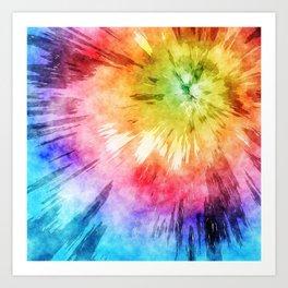 a018e83b91b3 Tie Dye Watercolor Art Print