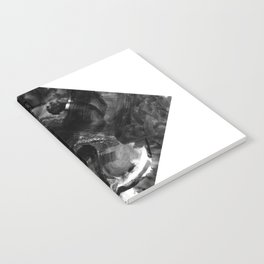 Black and White Abstract Geometric Diamond Notebook