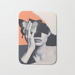 collage art / butterfly Bath Mat