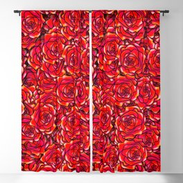 Red Rose Blackout Curtain