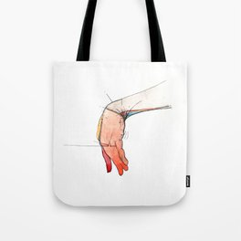 The Left, abstract hand art, NYC artist Tote Bag
