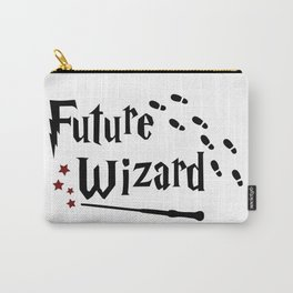 Future wizard with wand and footprints Carry-All Pouch