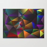 triangles Canvas Prints featuring TRIANGLES by eARTh