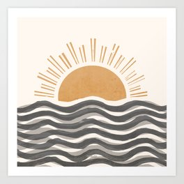 Waft Sun-Grey Art Print