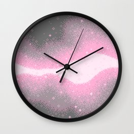 Demigirl Pride Flag Galaxy Wall Clock