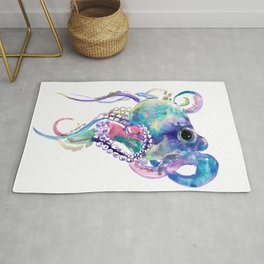 Tuquoise BLue Pink Purple Octopus Rug
