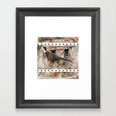 Pheasant Pillow Design Framed Art Print