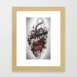 Octopus vs. Queen Mary Framed Art Print