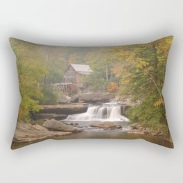 Image USA Trees Glade Creek Grist Mill Babcock State Park Nature Waterfalls park Watermill Parks water mill Rectangular Pillow