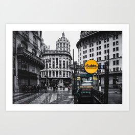 Buenos Aires Art Print